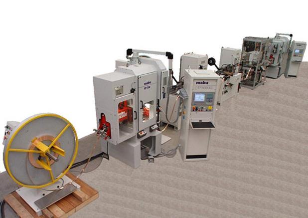 9 Mabu stansautomaat las+montage unit electronisch industrie